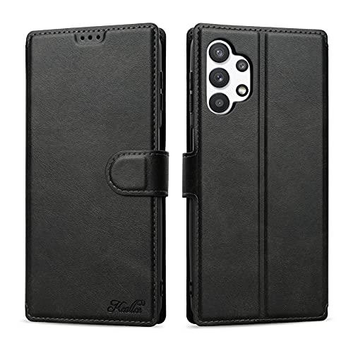 Keallce Lederhülle Kompatibel für Samsung Galaxy A32 5G, Handy Hülle PU Leder Brieftasche Handytasche Cover für Samsung Galaxy A32 5G Ledertasche - 6.5