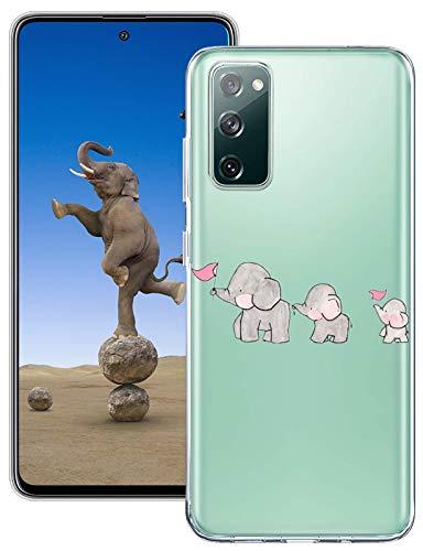 Croazhi Handyhülle Kompatibel mit Samsung Galaxy S20 FE 5G/4G Hülle Silikon Transparent Süß Tier Motiv S20 Fan Edition Schutzhülle Dünn 360 Grad Stoßfest Durchsichtige Hüllen für S20 Lite Handy