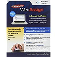 WebAssign Printed Access Card for Tan's Finite Mathematics for the Managerial Life and Social Sciences 12th Edition Single-Term【洋書】 [並行輸入品]