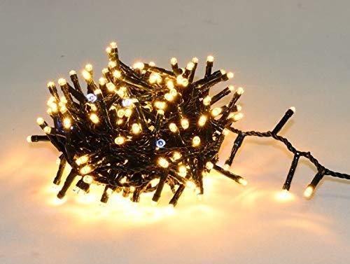 Guirlande Lumineuse pour Extérieur I 480 LED Blanc Chaud & Blanc Effet Flash I 35m de Longueur I Waterproof Indice IP44 I Déco Terrasse Jardin Façade Extérieure Sapin de Noël Arbres - ELUME