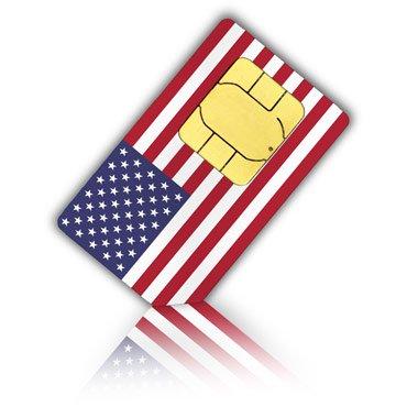 travSIM Carte SIM pour Les États-Unis & Puerto Rico (Tel/SMS/données) – Standard & Micro SIM – Carte SIM prépayée américaine