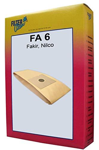 FilterClean FA 6 Staubsaugerbeutel, Braun
