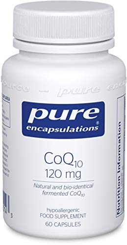 Pure Encapsulations - CoQ10 120mg - Natural and Bio-Identical Fermented Coenzyme Q10-60 Vegetarian Capsules