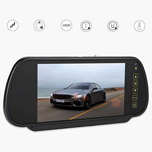 Specchietto retrovisore per auto, monitor per oscuramento automatico LCD da 7 pollici Telecamera per retromarcia con DVD esterno o TV per auto, vista Specchietto per sedile posteriore rivolto verso tu