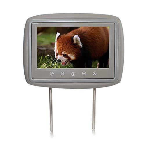 Auto Hoofdsteun Speler, 10-Inch High-Definition Touch Key Display, Dual AV TV aangesloten op DVD om video af te spelen, 150 ° Visuele Hoek, Resolutie 800 * 480 Grijs