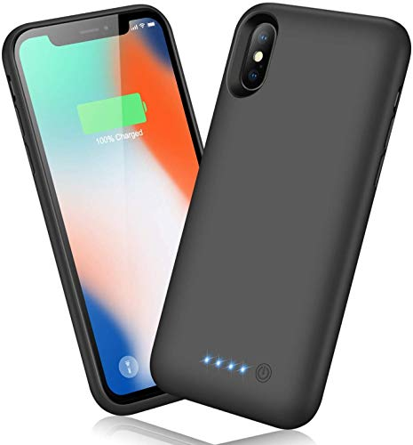 Cover Batteria per iPhone X/XS/10,Ekrist 6500mAh Cover Ricaricabile Custodia Batteria Cover Caricabatterie Battery Case per iPhone X/XS/10 [5.8''] Cover Backup Caricabatterie Power Bank