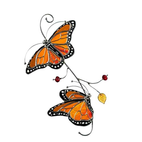 SHEDE Metal Monarch Butterfly Window Decoration Crafts Butterfly Wall Decor Garden Decorations Outdoor Hanging Wall Sculpture for Your Home thrifty