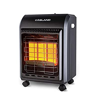 GASLAND MHA18B Propane Heater, 18,000 BTU Warm Area up to 450 sq. ft, Portable LP Gas Heater for Garages, Workshops and Construction Sites, Ultra Quiet Propane Radiant heater with LP Regulator Hose