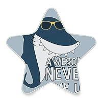 常夜灯 光センサー LEDライト サメ 頑張って かわいい 星型 ベッドサイド 移動照明 寝室 廊下 階段 授乳用ライト 飾り 補助灯 省エネ 子供部屋対応 足元灯 ナイトライト