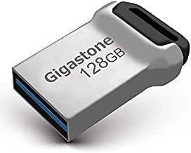Gigastone Z90 128GB USB 3.1 Flash Drive, Mini Fit Metal Waterproof Compact Pen Drive, Reliable Performance Thumb Drive, USB 2.0 / USB 3.0 Interface Compatible