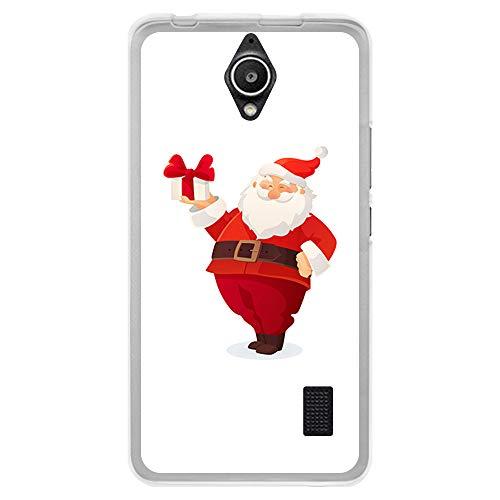 BJJ SHOP Funda Transparente para [ Huawei Y635 ], Carcasa de Silicona Flexible TPU, diseño : Papanoel Contento con Regalo