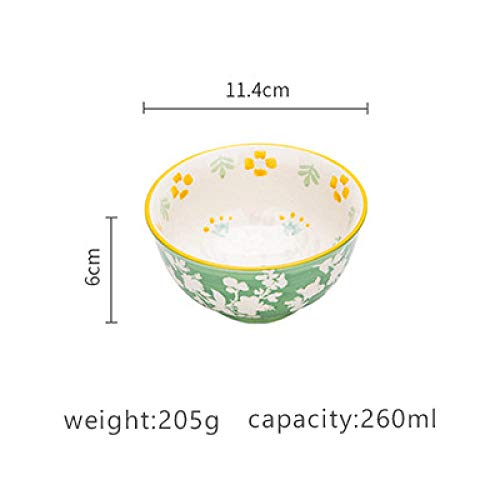 LANKOULI 6 Zoll Ramen Instant Nudelschale Große Keramik Salatschüssel Obstschale Suppe Spaghetti Pasta Mikrowelle Geschirr-NO3