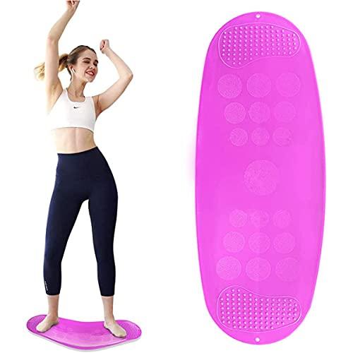 Tabla giratoria, tabla de ajuste simple para entrenamiento de cuerpo completo, tabla de equilibrio de yoga y fitness para ejercicio, equipo de entrenamiento de equilibrio antideslizante,Púrpura