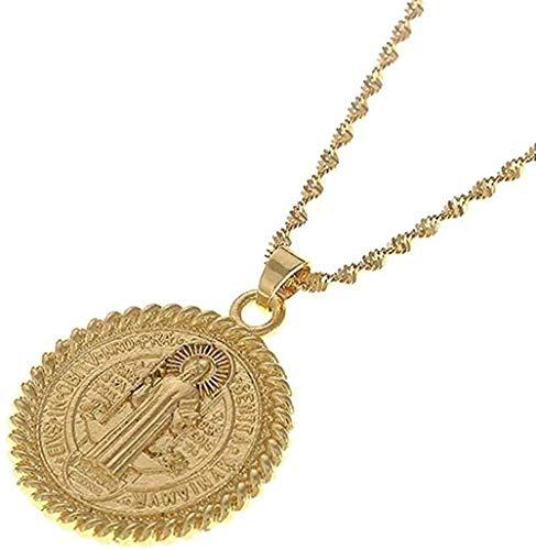 N-G Collar Collar Cruz Cristiana Colgante Joyas Cristianas Collar de Jesús para Wen
