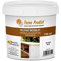 TECPINT MUEBLES de Tecno Prodist - 750 ml (Blanco Roto) Pintura a la Tiza - Ideal para pintar Muebles - Calidad Profesional