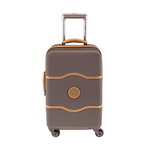 Delsey Chatelet Carry-on Spinner Trolley (21, Brown)
