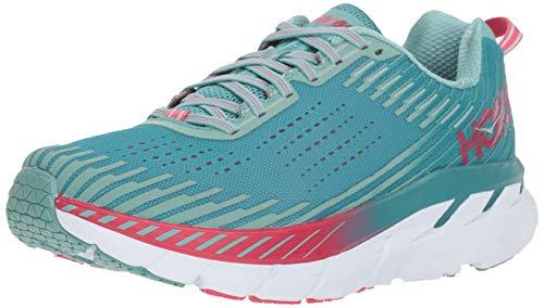 HOKA ONE ONE Womens Clifton 5 Green Blue Slate/Canton Running Shoe Size 9.5
