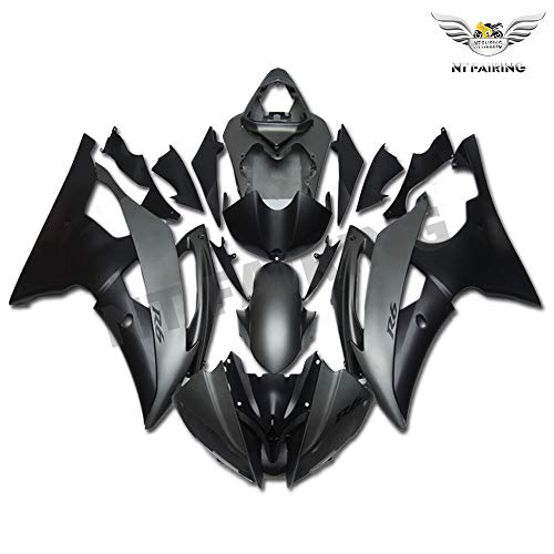 NT FAIRING Matte Grey Black Fairing Fit for Yamaha 2008-2016 YZF R6 New Injection Mold ABS Plastics Bodywork Body Kit Bodyframe Body Work YZF-R6 600R 2009 2010 2011 2012 2013 2014 2015 08R6