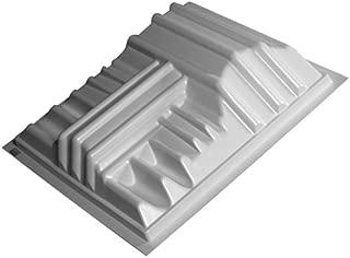 """Auralex Acoustics T'Fusor 3D Sound Diffusor, 5.5 x 24"""", T'Fusor Acoustic Pack of 4, x 24"""" x 24"""" White-4 Pack (TFUS_4PK)"""