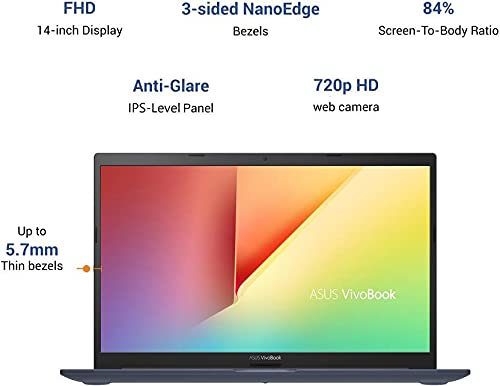 ASUS VivoBook Ultra 14 Core i5 11th Gen - (8 GB/512 GB SSD/Windows 10 Home/2 GB Graphics) X413EP-EB512TS Thin and Light Laptop (14 inch, Bespoke Black, 1.40 kg, with MS Office)