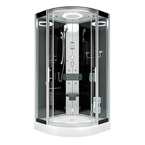 AcquaVapore DTP8046-2300 Dusche Duschtempel Komplett Duschkabine 100x100, EasyClean Versiegelung der Scheiben:Nein! +0.-EUR