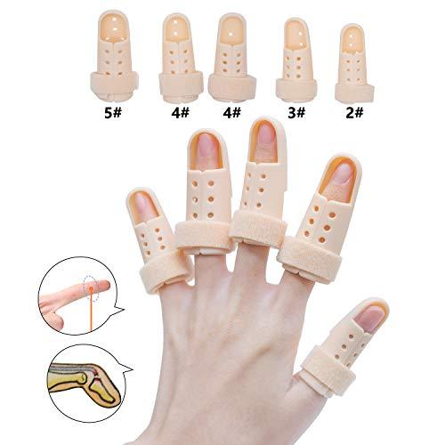 Sumifun, Fingerverlängerungsschiene für Triggerfinger, Fingerschiene mit Schaumstoff-Innenfutter, formbare Metall-Schiene, um Brüche auszurichten und zu stabilisieren