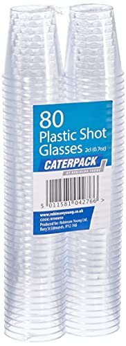 Caterpack 80Pack Kunststoff Schnapsgläser 2cl, transparent, 80Stück