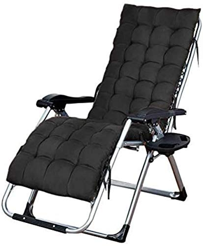 Chairs Lounge Folding Wide Recliner Suitable for Outdoor Beach Patio Pool etc, Heavy Duty Reclining 65x75x115cm Multifunctional (Color : Black),Colour:Black (Color : Black)