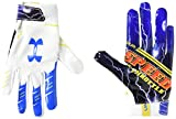 Under Armour Boys' F7 Youth Limited Edition Football Gloves , White (103)/Blue Circuit , Youth Medium
