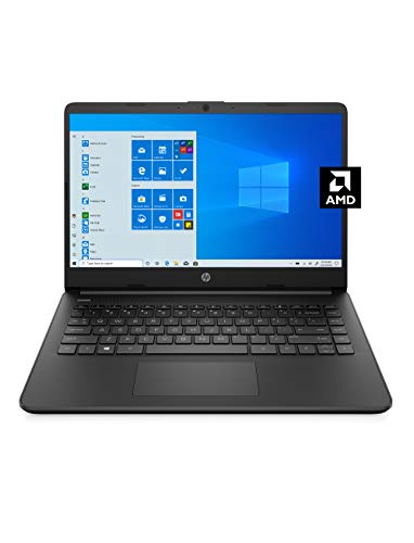 HP 14 Laptop, AMD 3020e, 4 GB RAM, 64 GB eMMC Storage, 14-inch HD Display, Windows 10 Home in S Mode, Long Battery Life, Microsoft 365, (14-fq0020nr, 2020)