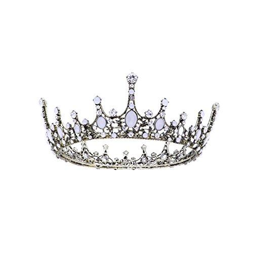 Frcolor Corona de Novia de Boda Peinetas Corona de Cristal Diamantes de...