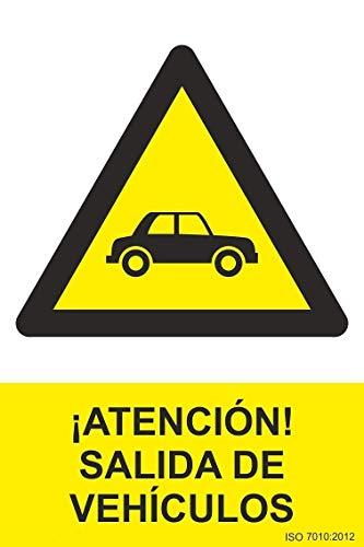 Normaluz RD30076 - Señal ¡Atención! Salida De Vehículos PVC Glasspack 0,7 mm 21x30 cm con CTE, RIPCI