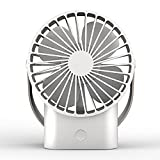 Qobnn Mini Handheld Fan - Super Quiet, Up to 10 Hours, Portable Fan, Desk Desktop Table Cooling Fan with USB Rechargeable Electric Fan for Car Office Room Outdoor Household Traveling, large-aaa (FS01)