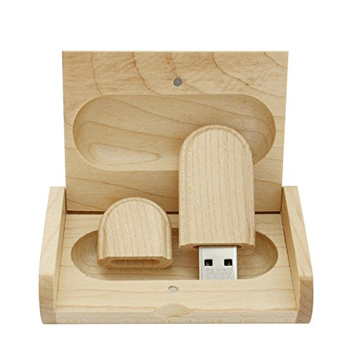yaxiny 8GB 3.0 Ahorn Holz USB Flash Drive mit Holzbox