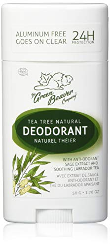 Green Beaver The Company Aluminum Free & 24 Hour Protection Tea Tree Natural Deodorant Stick, 1.76 Oz