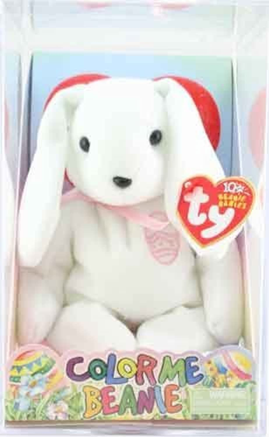 TY Beanie Baby  COLOR ME BEANIE THE BUNNY Pink Ribbon & embroidered Egg (Complete Kit) by Ty