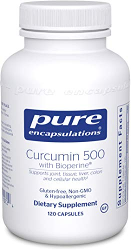 Pure Encapsulations - Curcumin 500 with Bioperine - Antioxidants for the Maintenance of Good Health - 120 Capsules