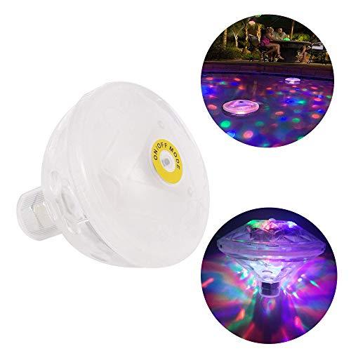 LED Schwimmleuchten Unterwasserlicht Bunte Schwimmende Lampe Pool Teich mit Discokugeleffekt 7 Beleuchtung Modi