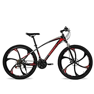 Gaoyanhang 24 and 26 inch Mountain Bike 21 Speed Bicycle Front and Rear disc Brakes Bike with Shock Absorbing Riding Bicycle