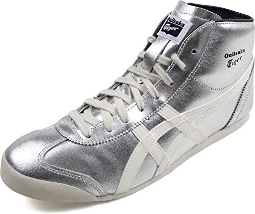 Onitsuka Tiger - Unisex-Adult Mexico Mid Runner Sneaker, 44 EU, Pure Silver/Cream