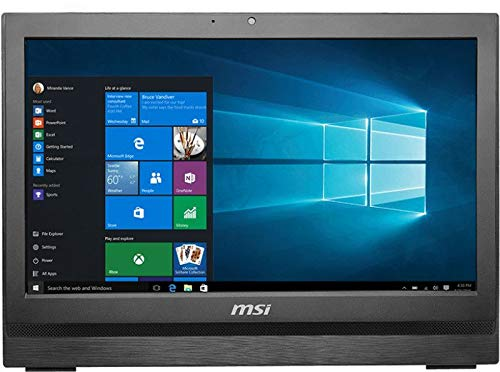 MSI 9S6-AA7811-027 Pro 20T 6M-027XDE All-in-One Desktop PC (Intel Core i3-6100, 128GB Festplatte, 4GB RAM, HD-Grafik, Win 10, 50,8 cm (20 Zoll)) schwarz
