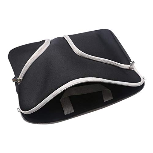 13; Portable Laptop Sleeve Case Tablet Storage Protection Bag Pouch Black+White