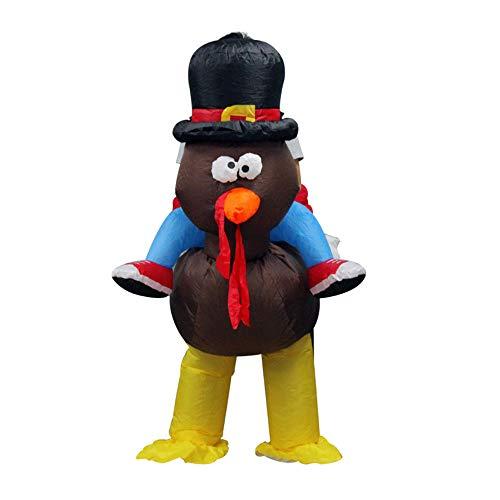 JYCRA Disfraz inflable de pavo para adultos, divertido disfraz de pavo de Accin de Gracias, disfraz de pavo para fiesta de Navidad