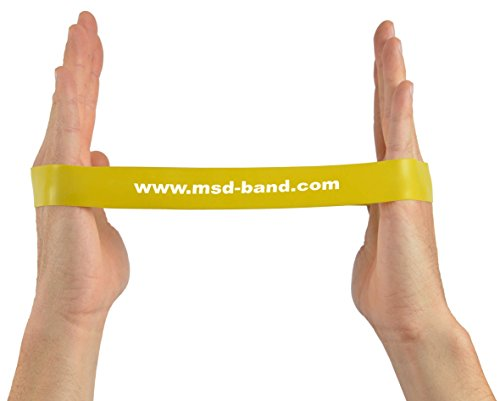 fitness yoga /Banda el/ástica media cerrada para pilates MSD Banda Loop roja/