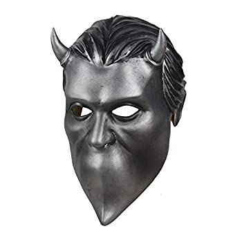Moniku Nameless Ghouls Mask Deluxe Latex Ghost Band Mask Cosplay Props Silvery