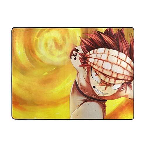 KZLXCH Anime Fairy Tail Natsu Suave Pelusa Grande Alfombras 160 x 120 cm para dormitorio y sala de estar decoración del hogar alfombras (160 x 120 cm)