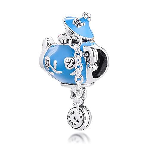 FUNSHOPP 2021 primavera paese delle meraviglie senza compleanno festa teiera Bead in argento 925 fai da te adatto per braccialetti Pandora originali