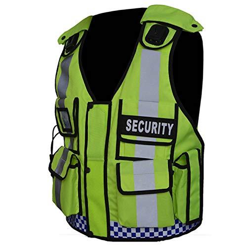 Chaleco táctico de alta visibilidad para seguridad, CCTV, aplicación de la ley, chaleco táctico para perros (portero)
