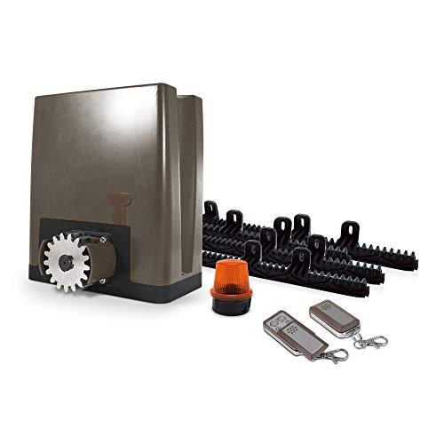 Avidsen - Motorisation Automatique pour Portail Coulissant (Bois, Fer, alu ou PVC) OREA 500 Plus - pour Portail Plein, ajouré ou Semi-ajouré de 500Kg Max et 8m Max.