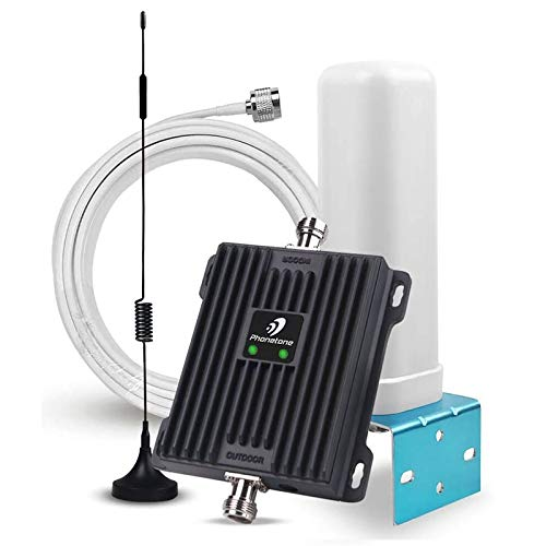 Verizon ATT Band 12/13/17 Cell Phone Signal Booster for Home and Office | 65dB Dual Band Repeater Boost 4G Data and Volte | Support Multiple Users